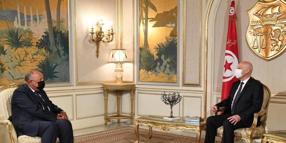 في رسالة لقيس سعيد .. السيسي يؤكد تضامن مصر مع الشعب التونسي لتحقيق تطلعاته في الاستقرار والنماء
