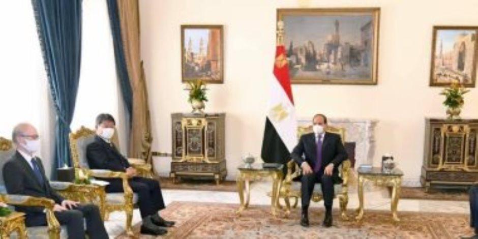 الرئيس السيسى: مصر تعتز بالعلاقات الوثيقة المثمرة مع دولة اليابان الصديقة ذات الحضارة والقيم العريقة