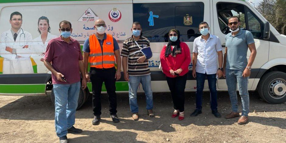 """""""نستله للمياه مصر"""" تتعاون مع الصحة لتطعيم سكان قريتي كفر الأربعين وجمجرة فى القليوبية بلقاح كورونا"""