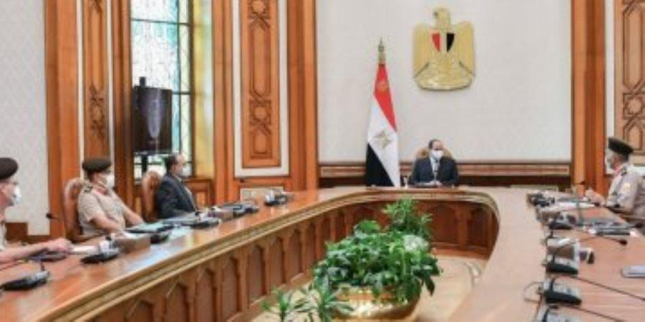 الرئيس السيسي يوجه باستمرار جهود تطوير ورفع كفاءة الطرق على مستوى الجمهورية