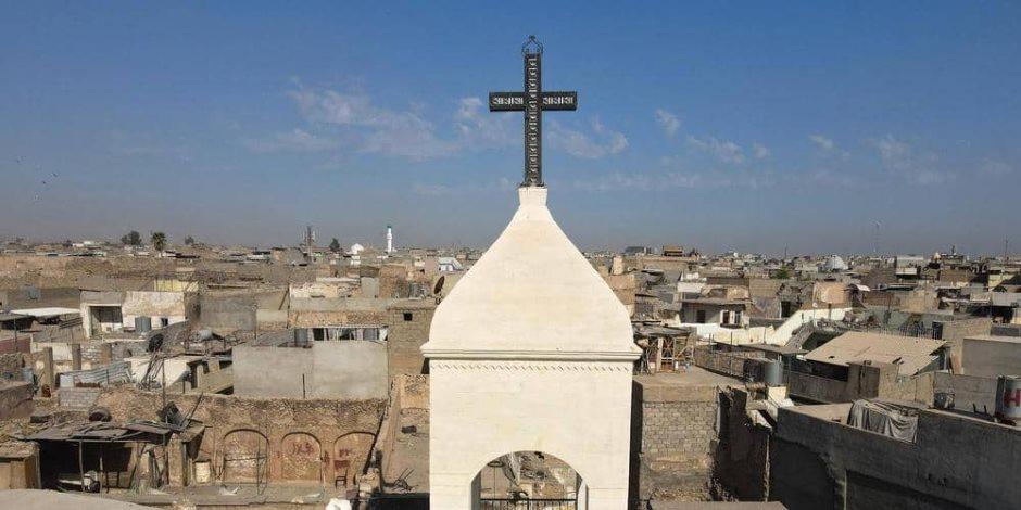 وسط زغاريد المصلين.. أجراس الكنائس تدق من جديد في الموصل بعد الخلاص من داعش