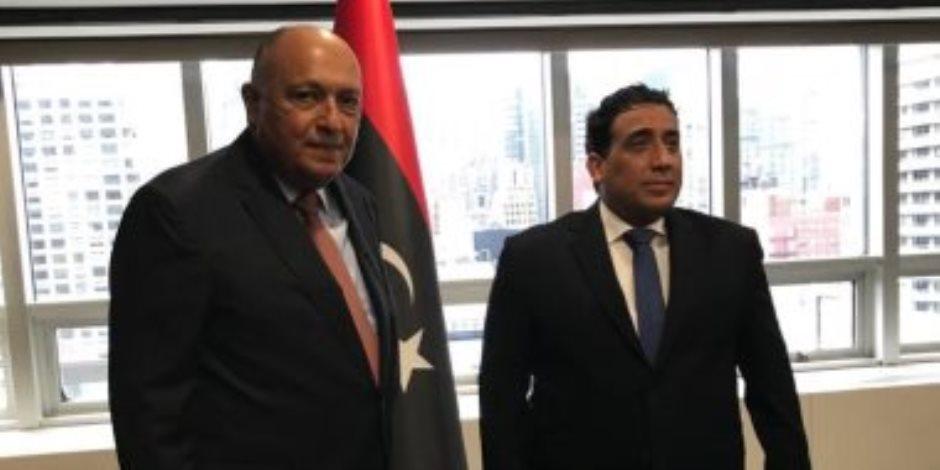 """وزير الخارجية يبحث مع """"المنفى"""" دفع العملية السياسية الشاملة فى ليبيا"""