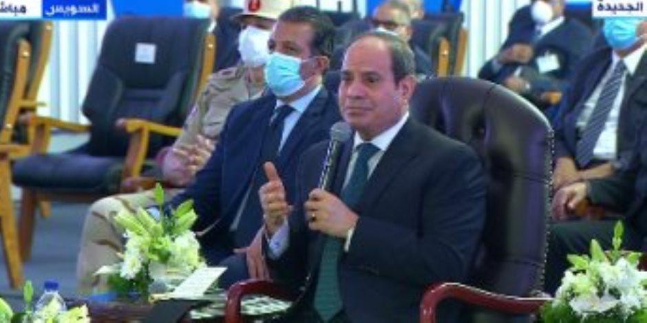 رقم قياسي في الحفر النفقي.. «السيسي» يفتتح «نفق الشهيد أحمد حمدي 2»