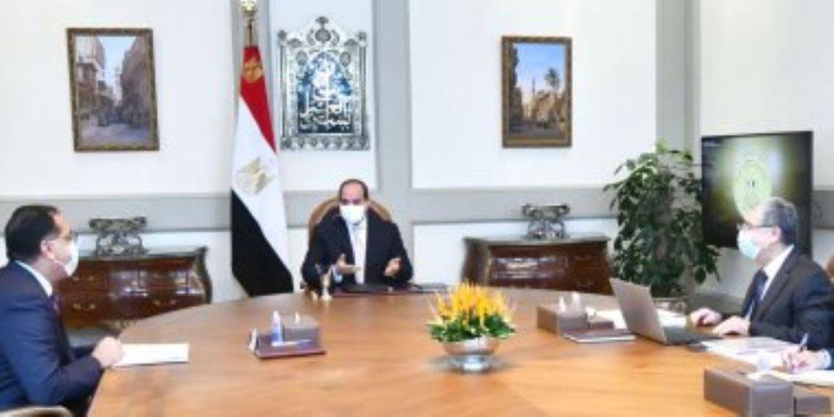 """الرئيس السيسي يوجه بتأسيس البنية الكهربائية للمشروع العملاق """"الدلتا الجديدة"""""""