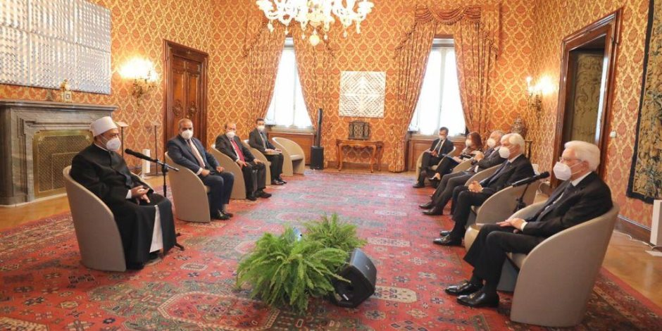 تفاصيل لقاء شيخ الأزهر مع الرئيس الإيطالي.. تأثير لقاءات الإمام والبابا في دعم السلام
