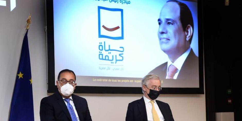 """من قلب فرنسا.. رئيس الوزراء يتحدث عن مبادرة """"حياة كريمة"""": أول مشروع وطني يخدم 58 مليون مواطن"""