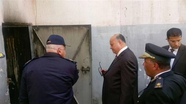 اللواء خالد عبد العال يتفقد موقع حريق مسرح «ليسيه الحرية»