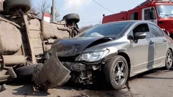 إصابة فتاتين في حادث تصادم بكوبري مشاة بالإسكندرية