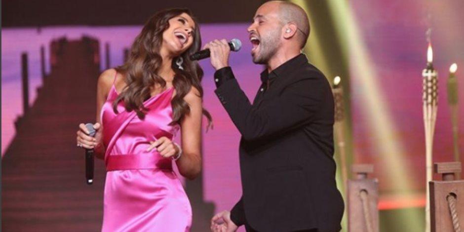 أنابيلا هلال تشارك أبو فى غناء 3 دقات (فيديو) | صوت الأمة