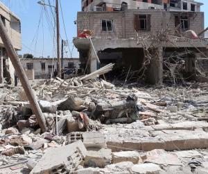 مقتل 12 سوريا في قصف للتحالف الدولى بريف دير الزور