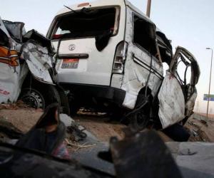 إصابة 7 أشخاص إثر انقلاب سيارة ميكروباص في شبين الكوم بالمنوفية