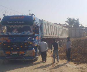 إزالة تعديات طريق «رابعة» الرئيسي بسيناء تمهيدا لازدواجه