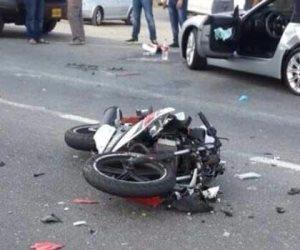 مصرع شاب في تصادم دراجة بخارية بسيارة ربع نقل ببني سويف