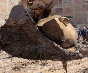 الآثار: خالد العناني يتفقد تمثال رمسيس بالمطرية