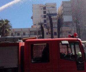 السيطرة على حريق محل كاوتش بأوسيم