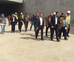 وزير الإسكان يتفقد التشطيبات النهائية لنفق شارع التسعين بالقاهرة الجديدة