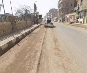 تخطيط وتجميل الطريق الدائري ببني مزار بالمنيا (صور)