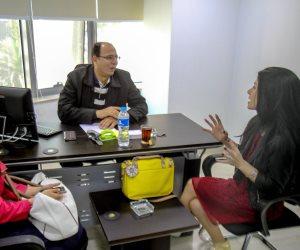 الإعلامية اللبنانية لينا زهر الدين تزور «صوت الأمة» و«عين»