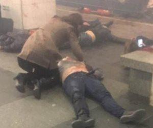شاهد.. القنبلة التي انفجرت في مترو سان بطرسبرج