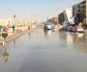 مياه الصرف الصحى تغمر منطقة التعاون بالإسماعيلية (صور)