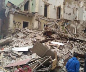 انهيار منزلين بالبدرشين بسبب موجة الطقس السيء