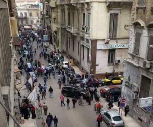 اللقطات الأولى لحادث تفجير الكنيسة المرقسية بالإسكندرية (فيديو)