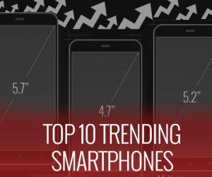 أهم 10 هواتف ذكية تم البحث عنها وشراءها خلال اسبوع