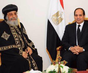 6 رؤساء في حضرة البابا.. والسيسي أول رئيس في تاريخ مصر يحضر قداس عيد الميلاد