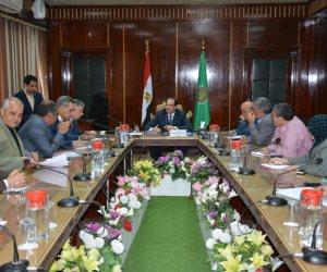 محافظ الدقهلية يناقش مع ممثلي وزارة الإنتاج الحربي سبل التعاون