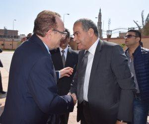 في مستهل زيارتهما للمحافظة اليوم: محافظ بني سويف يستقبل وزيري الزراعة والتموين