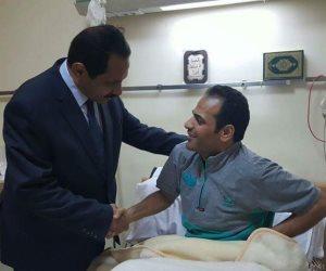 مدير أمن الإسكندرية يزور مستشفى الشرطة (صور)