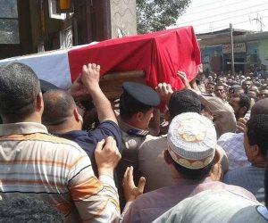 تشييع جثامين ضحايا اشتباكات كوم هتيم بقيادة مساعد وزير الداخلية