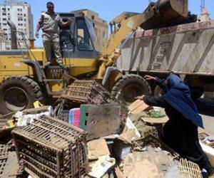 حملة لرفع إشغالات شارع الجيش وغيط النوبي بحي الموسكي