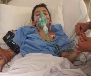 إصابه طالبين صدمهما أتوبيس مدرسة أثناء توقفهما بطريق الواحات