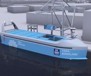 """""""يارا"""" اول سفينة حاويات كهربائية مستقلة فى العالم (صور)"""