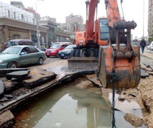انقطاع المياه عن عدة مناطق بالقاهرة بسبب كسر بأحد الخطوط