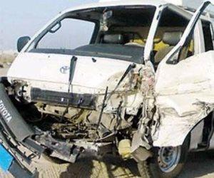 احتراق 3 سيارات نتيجة اصطدام قوى في طريق المنصورة القاهرة