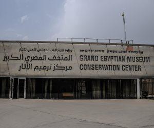 «الدرج العظيم» في المتحف المصري.. أول ما يقابله الزوار في المتحف الجديد