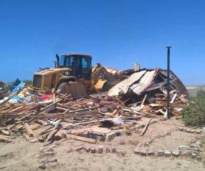 إزالة التعديات على 2 مليون و 34 ألف متر من أملاك الدولة بمركز إدكو