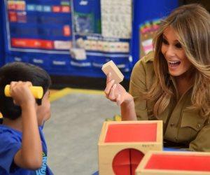 ميلانا ترامب تزور مدرسة أمريكية في الرياض (صور)