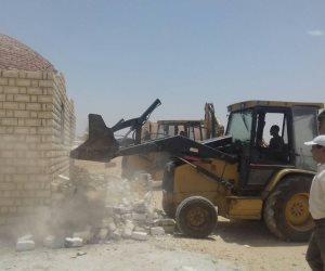 إزالة تعديات على مساحة 451 فدان و26 ألف متر على أملاك الدولة بالمنوفية