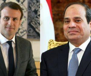 السيسي يتلقى اتصالا هاتفيا من نظيره الفرنسي لبحث العلاقات الثنائية وجهود مكافحة الإرهاب