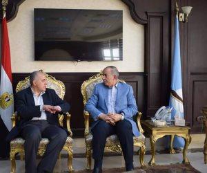 محافظ البحر الأحمر يستقبل وزير الري بالمحافظة