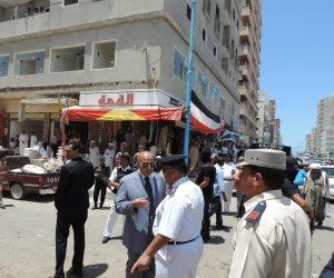 مدير أمن مطروح يقود حملة لإزالة التعديات بالشوارع (صور)