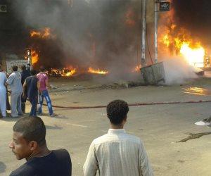 السيطرة على حريق اندلع داخل محطة وقود في عين شمس