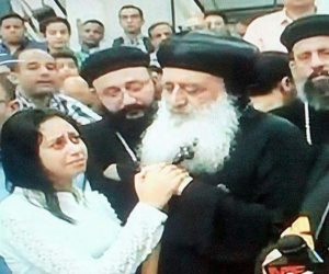 صلاة جنازة شهيد كنيسة مار جرجس بطنطا بولا عبد الله جورجي (صور)