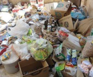 إعدام كميات من الأغذية الفاسدة بأسواق بالدقهلية
