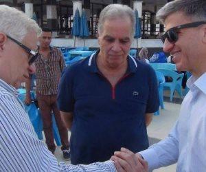 سفير قبرص يتفقد منشآت نادى الزمالك
