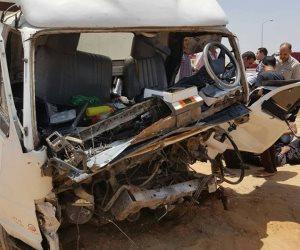 مصرع 10 أشخاص وإصابة 6 آخرين فى حادث تصادم بسوهاج