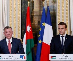 الرئيس الفرنسى يستقبل العاهل الأردنى فى باريس